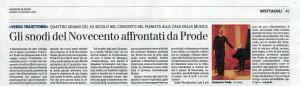 """Festival """"Traiettorie"""". Articolo di Gian Paolo Minardi"""