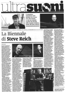 Biennale Musica Venezia 2014, recensione su Il Manifesto del 20 settembre 2014